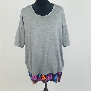 Lularoe women S Irma T-Shirt gray hi-low tunic